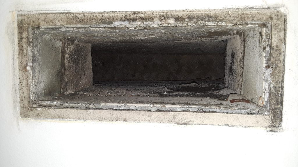 air duct register to view dust